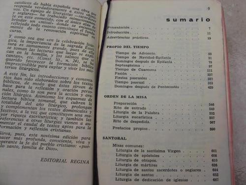 mercurio peruano: libro religion misal biblico  1966 l51