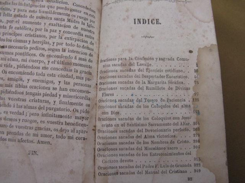 mercurio peruano: libro religion oraciones 1869 l52