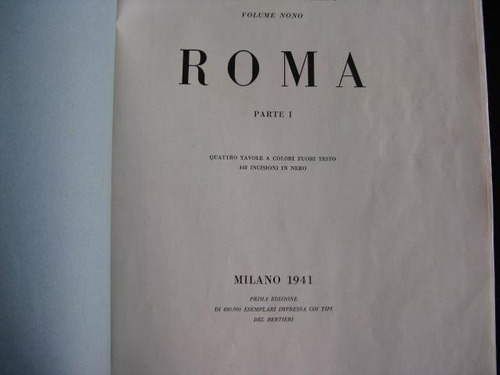 mercurio peruano: libro turismo roma viaje 1941 238p l87