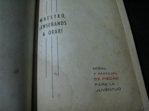 mercurio peruano: misal manual piedad para juventud l103