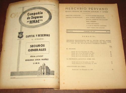 mercurio peruano n°323 1954 víctor andrés belaunde onu