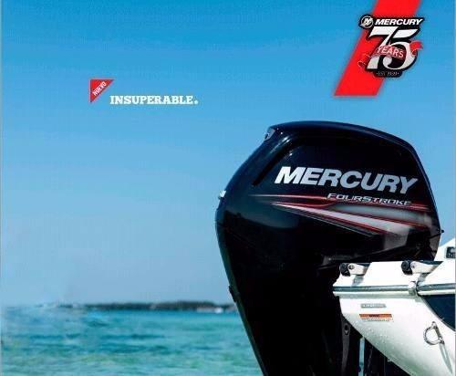 mercury 115 hp 4t 0hs 2020 helice de acero inox y 7 relojes