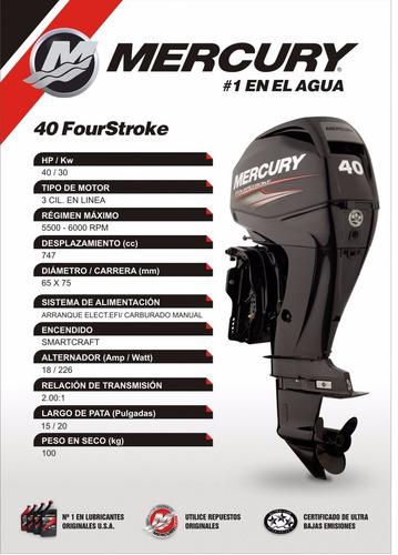 mercury 40 hp 4 tiempos power trim concesionario oficial