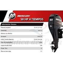 mercury 50 hp  4tiempos ecologico  arranque y power trim okm