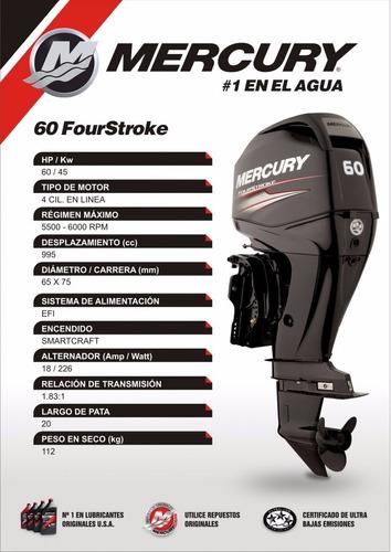 mercury 60 hp 4 tiempos concesionario oficial