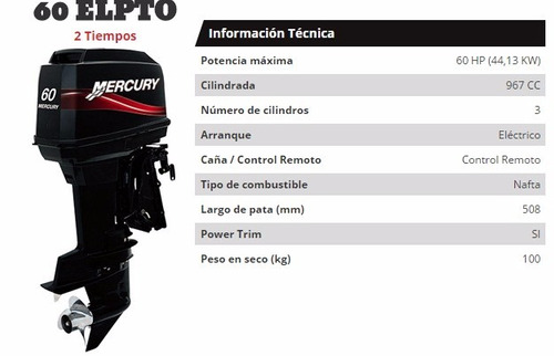 mercury/mariner 60 elpto bf super oferta flete sin cargo!!!