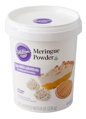 merengue en polvo wilton original 226gr color blanco