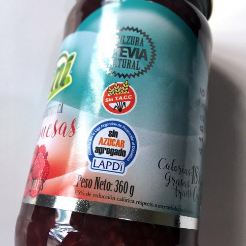 mermelada -sin azúcar- frambuesa, 360g