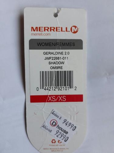 merrell geraldine 2.0 talla xs. oferta 50% off