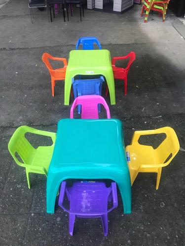 mesa + 1 silla marca rimax infantil