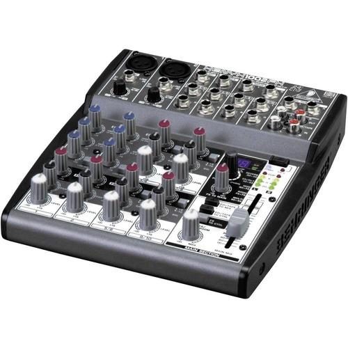 mesa 10 canais 1002 fx behringer com efeito e auxiliar xenyx