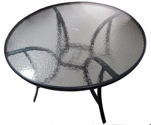 mesa 102 cm estructura metalica pintada gris plomo suxes sas