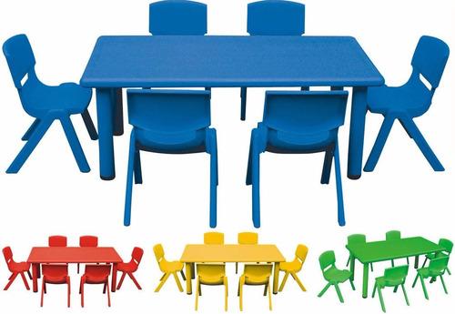 mesa 120 x 60 infantil escolar niños. polipropileno plastico