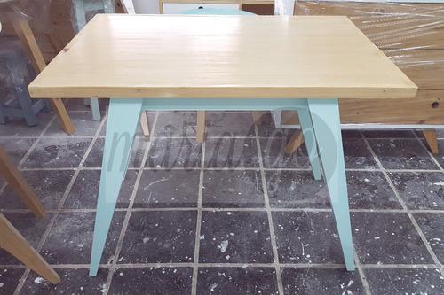 mesa 120x70 + 4 sillas diseño nordico escandinavo