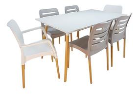 Mesa 1.40 + 4 Sillas + 2 Sillones Diseño, Comedor, Cocina