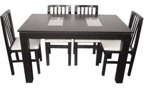 mesa 1.40 + 4 sillas tapizadas envio gratis a todo el pais