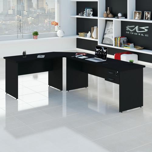 mesa 180x140 escritório escrivaninha em l, várias cores 30mm