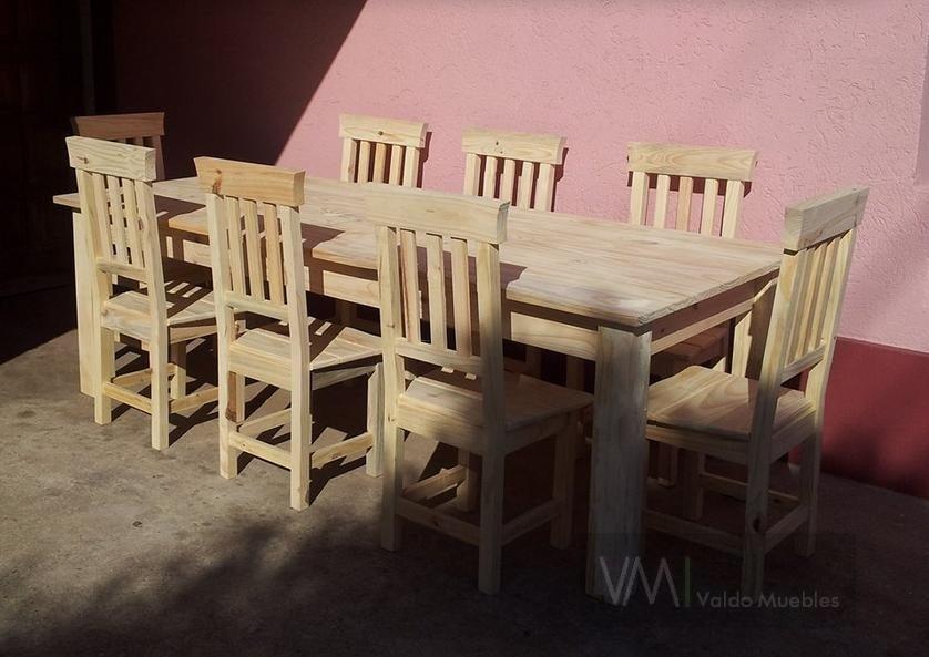 Mesa 240x100 De Pino, Patas Rectas Tradicional - $ 4.700,00 en ...
