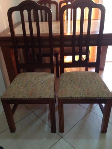 mesa 4 cadeiras com tampo em mármore