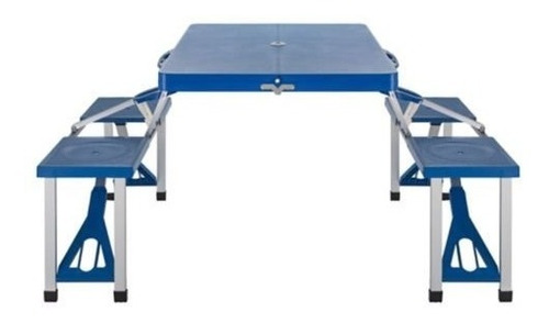 mesa 4 puestos para camping plegable portatil aluminio