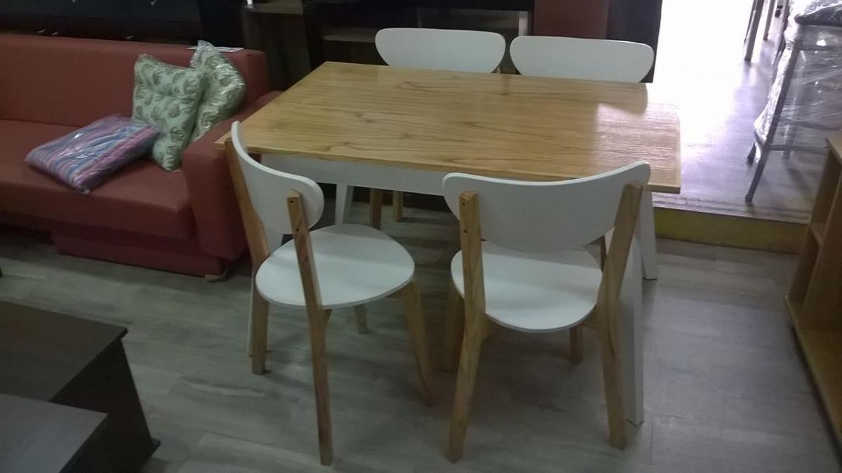 mesa sillas blancas