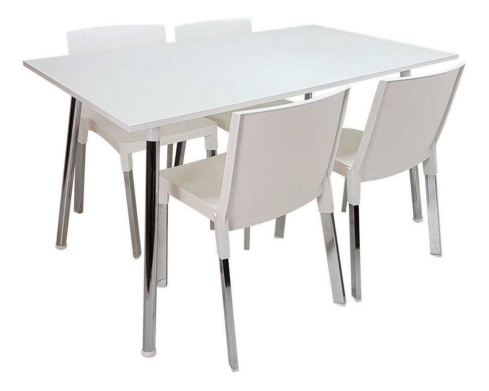 Mesa + 4 Sillas De Diseño, Comedor, Jardín, Cocina