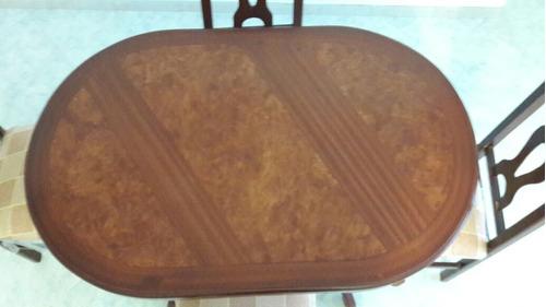 mesa 4 sillas, perfecto estado, como nueva, sin detalles,
