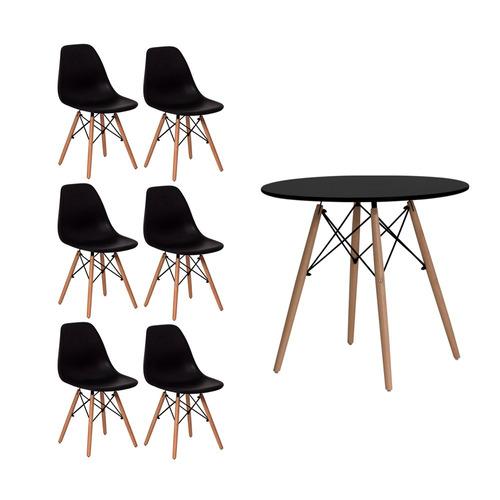 mesa + 6 cadeiras eames eiffel dkr 120cm