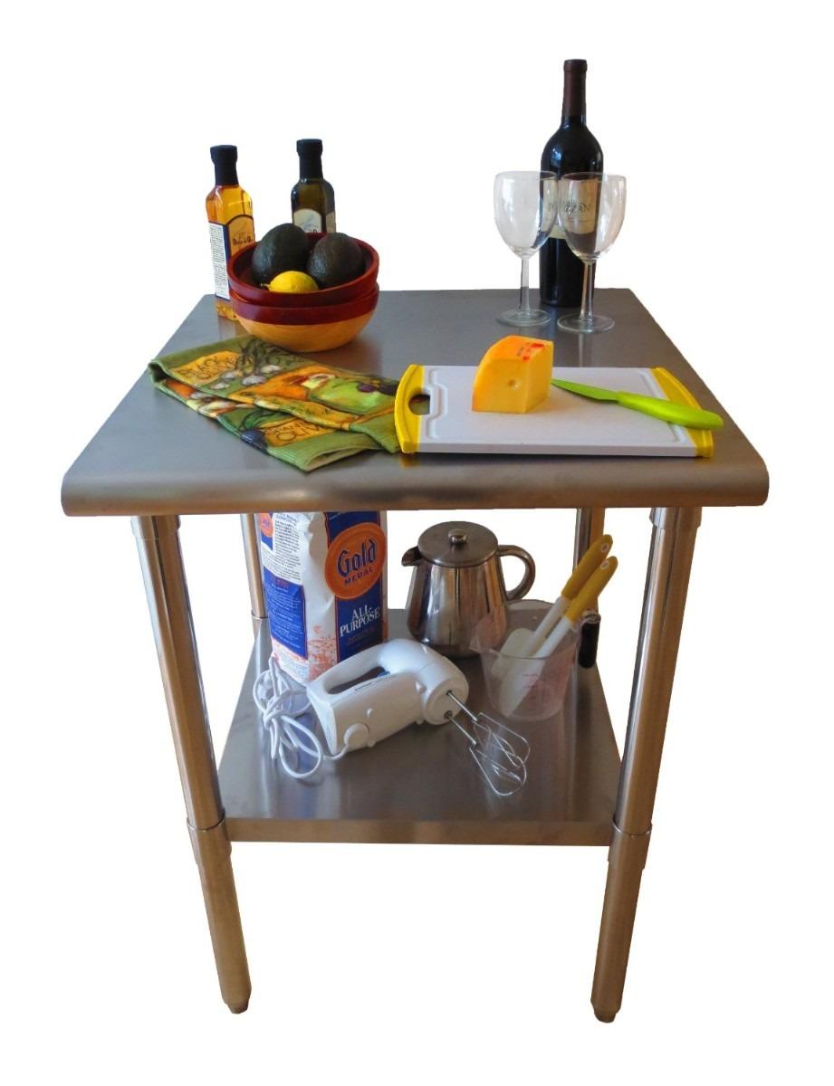 Mesa acero inoxidable 2 niveles restaurant cocina trabajo for Articulos acero inoxidable para cocina