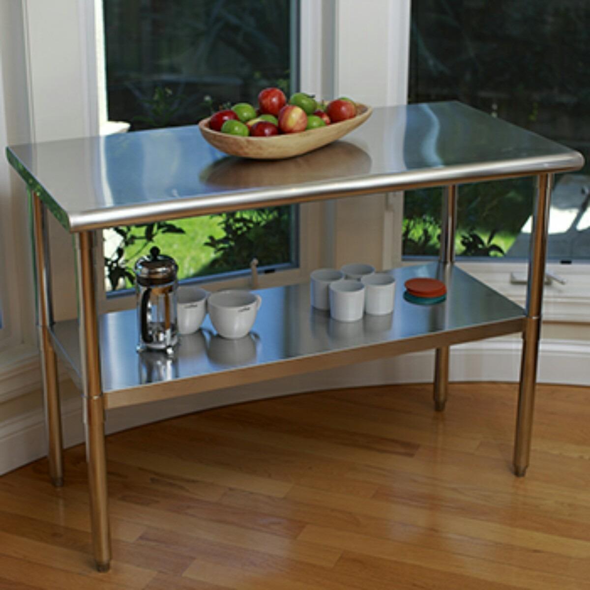 Mesa acero inoxidable mesa de trabajo cocina 3 for Mesa inoxidable