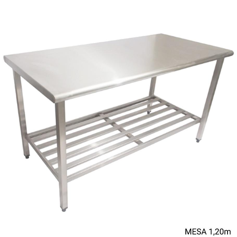 Mesa A O Inox 1 20 X 0 70 Com Prateleira De Inox Cozinhas R 920