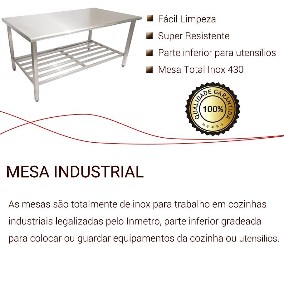Mesa A O Inox 150 X 0 70 X 90cm Para Padarias Restaurantes R