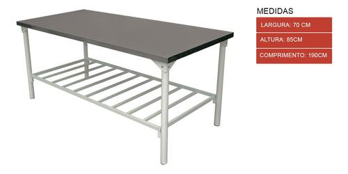 mesa aco inox 1,90 x 0,70 x pg para padarias,restaurantes