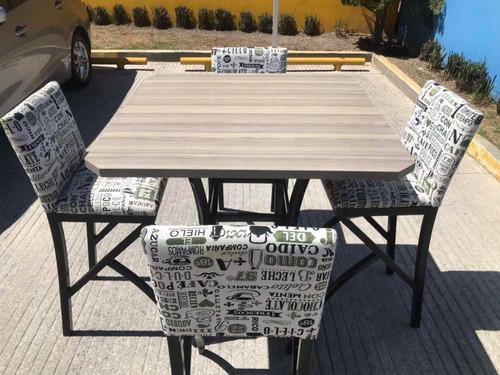 mesa alta con 4 sillas para comedor. solo entrega en pachuca