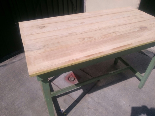 mesa alta de trabajo 130 cm x 70 cm pura madera