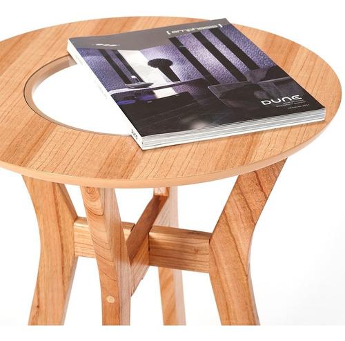 mesa alta paraíso retro con vidrio muebles morph