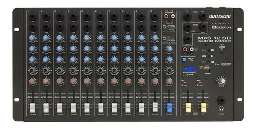 mesa analógica ciclotron mxs 12 sd wattsom usb