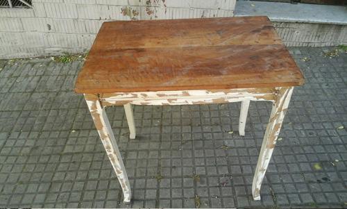 mesa antigua 80 x 55 x 79 cns alto