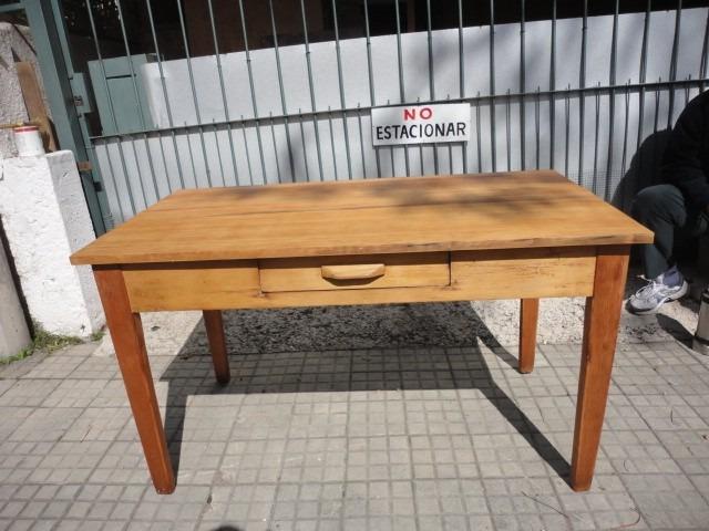 Mesa antigua de pinotea de cocina original mira fotos - Mesas antiguas de cocina ...