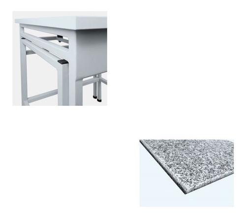mesa antivibratoria radwag sal/c acero esmaltado. balanzas