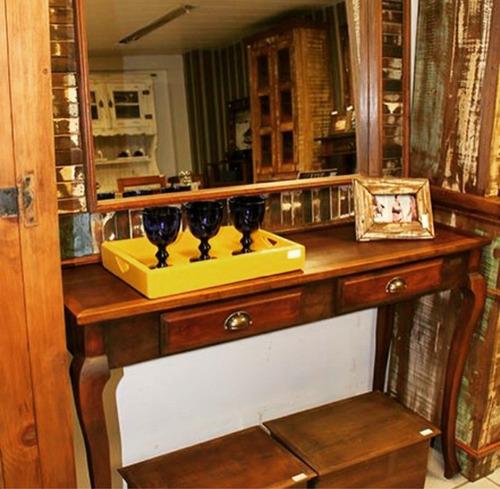 mesa aparador luis xv madeira demolição base branca peroba