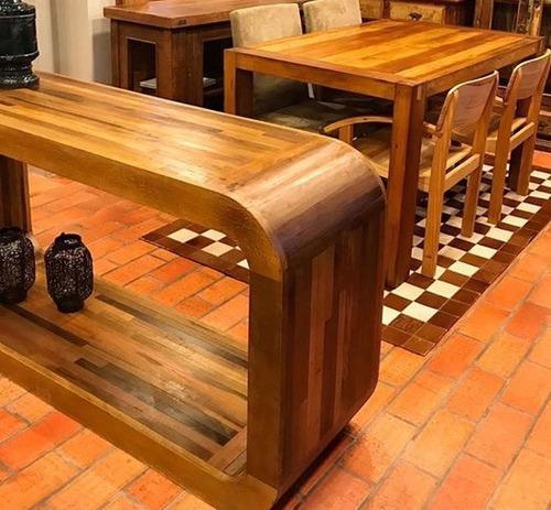 mesa aparador rack retangular de madeira demolição rústico
