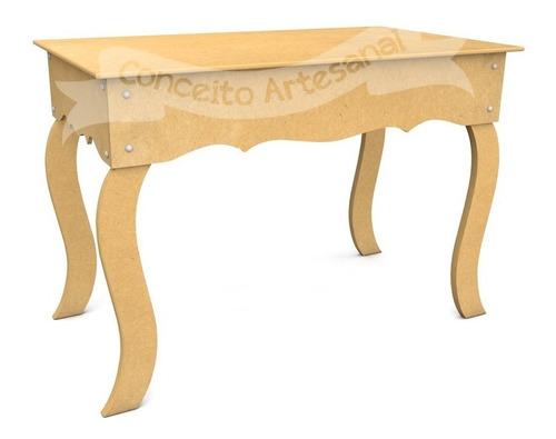 mesa aparadora kit pegue monte 87x50 luis xv pé 80cm