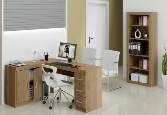 Mesa armario em l reversivel 3 gvts estante 5 nichos sv - Armario escritorio ikea ...