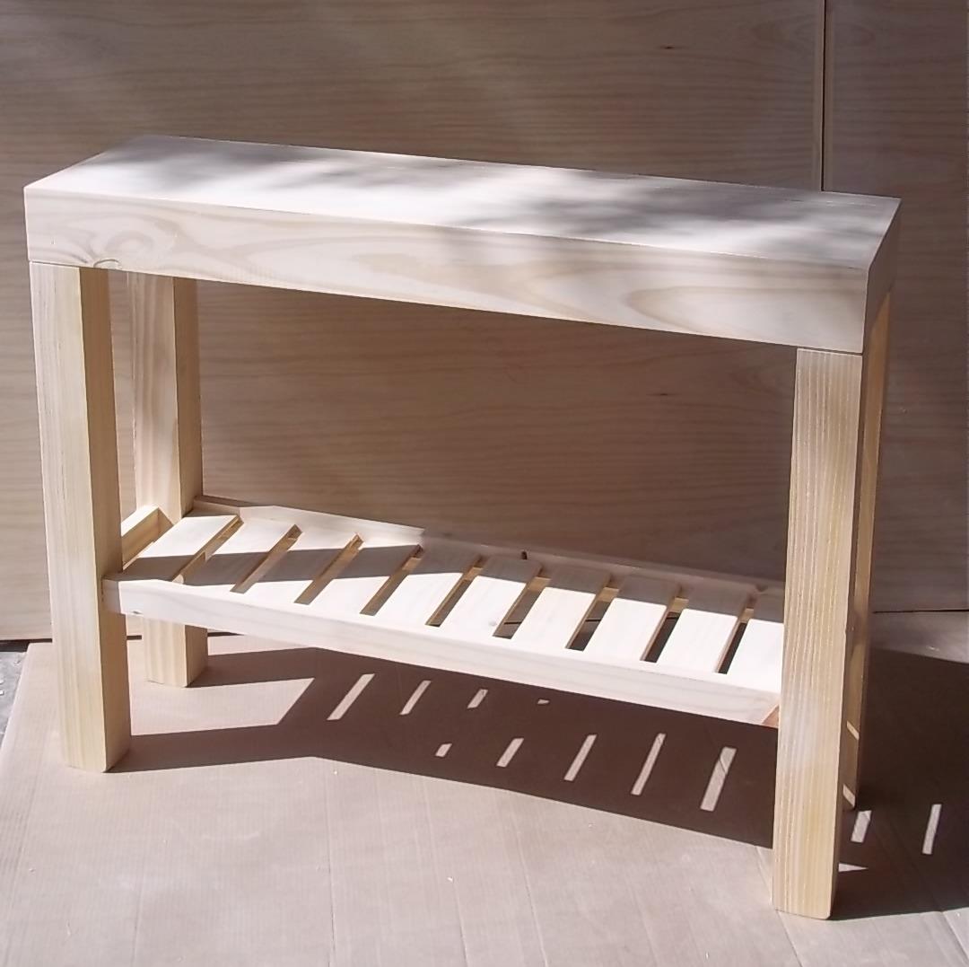 Recibidores de madera consola vintage de madera decapada for Mesa para recibidor
