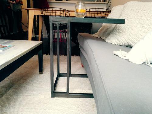 mesa arrime rectangular hierro pulido [bror]