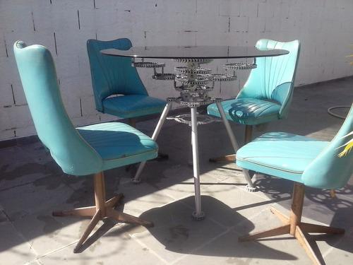 mesa artesanal em aço 1045
