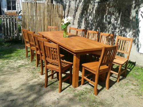 mesa asia de 1.60x080 + 6 silla tapizadas en chenille