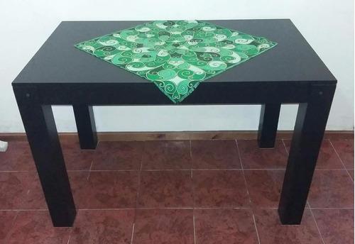 mesa asia laqueada 180x80