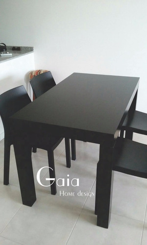 mesa  asia laqueada comedor moderna madera 120 x 70 cm